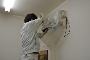 お掃除歴20年の技術にお任せください!!クリーンサービス・エコのエアコンクリーニング(壁掛け型)